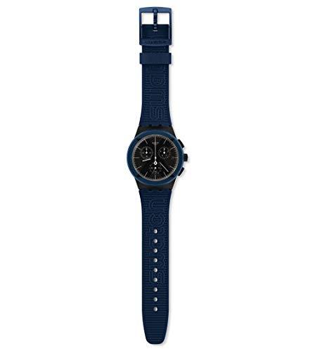 Swatch Reloj Cronógrafo para Hombre de Cuarzo con Correa en Silicona SUSB418