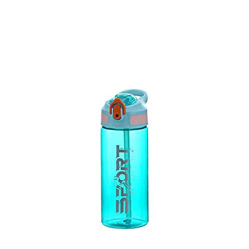 HNGM Botella de Agua Deportiva Botella de Agua Deportiva Taza al Aire Libre con pajitas Jugo portátil Lid de Vidrio Camping Agua Taza de Bebida Taza a Prueba de Fugas