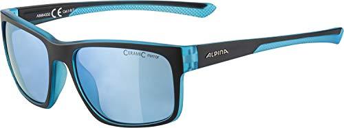 ALPINA Unisex - Erwachsene, LINO I Sportbrille, black-blue transparent matt, One Size