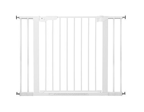 BabyDan Premier rejilla de puerta / puerta de escalera para sujeción, 99 cm - 106,3 cm - fabricado en Dinamarca y probado por el TÜV GS, color: blanco