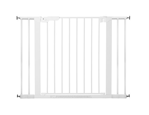 BabyDan Premier 60114-2494-02-85, protezioni delle porte / cancello per serraggio, 99 cm - 106,3 cm - fabbricato in Danimarca e testato dal TÜV GS, colore: bianco