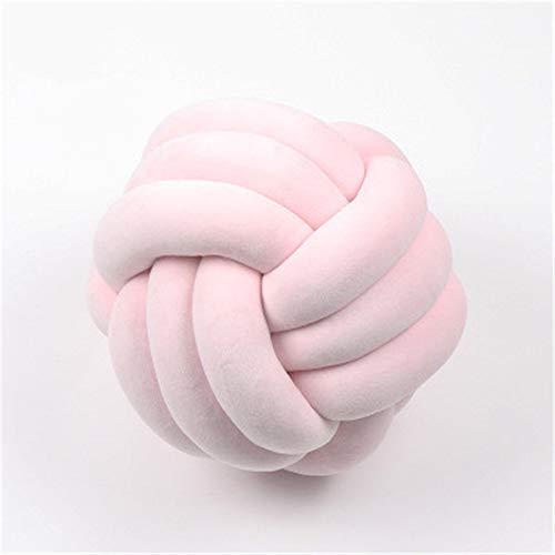 RAILONCH Knoten Kissen Handgestrickte runde geknotete Knotenkissen Kopfkissen Baby Bett Zimmer Dekor Spielzeug