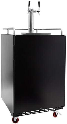 EdgeStar Sale Full Size New product!! Dual Tap Black Steel Keger Built-In Stainless