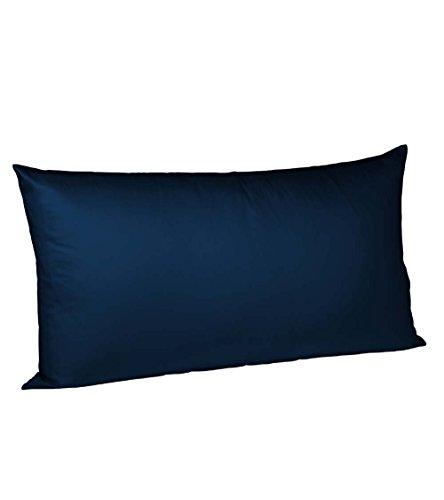 Fleuresse 9200 colours Interlock Jersey Kissenbezug aus 100% Baumwolle, Oekotex Standard 100, 40 x 80 cm, dunkelblau