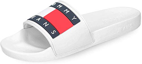 Tommy Jeans Flag Pool Badeschuhe White