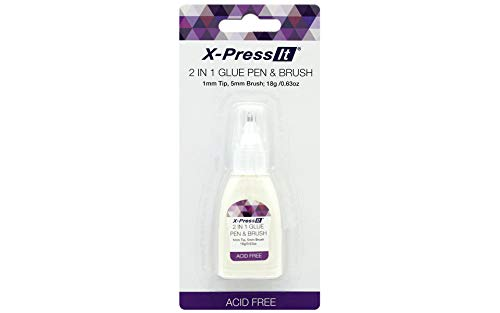 Copic X-Press It 2-in-1 Glue Pen and Brush, Dual 1mm and 5mm Tips (XPG2IN1)