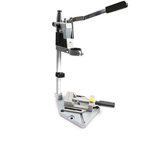 Aluminum Bench Drill Stand Single-Head Electric Drill Base Frame Drill Holder Power Grinder Accessories for Woodwork