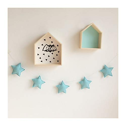 black Rose Wangweiming Nordic Kids Room Handmade Nursery Star Garlands Christmas Kids Room Wall Decorations Photography Props Decorations WWM (Color : Green)