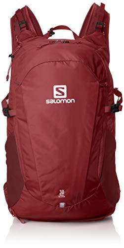 Salomon Trailblazer Mochila de Senderismo/Viaje, Espacioso y práctica, Capacidad 30L, Unisex Adulto, Rojo (Biking Red), Talla única