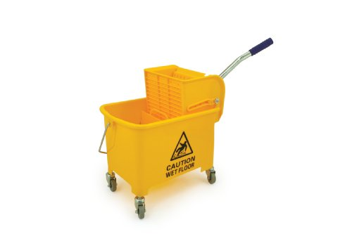 Professional 20 Litre Yellow Kentucky Mop System With Wheels and Double Bucket