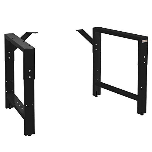 Workbench Table Frame 20' Depth - Black - 29' to 35' Height Adjustable