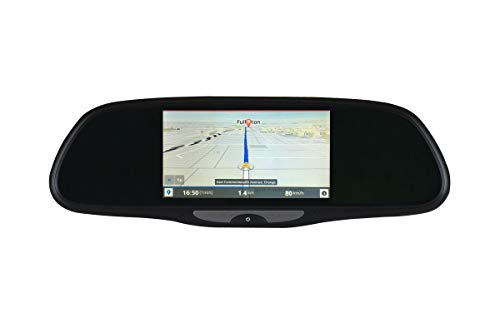 "BOYO VTG500X - Replacement Rear-View Mirror with 5"" HD Monitor, GPS Navigation and Buit-in DVR (Android OS)"