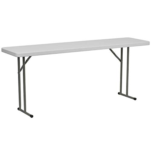 Flash Furniture 6-Foot Granite White Plastic Folding Training Table