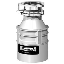 Kenmore 1/2 hp Food Waste Disposer 1 - 1/2 in. cushioned slip joint