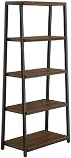 Mainstay Arris 4-Shelf Tower Book Shelf for Storage and Display, Canyon Walnut Finish