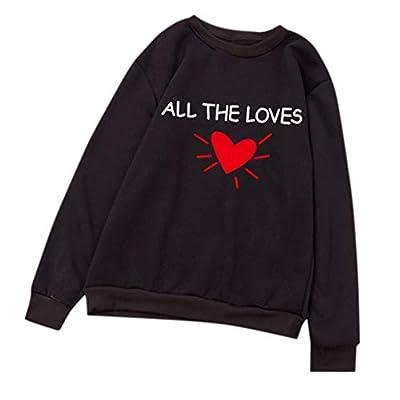 "Wokasun.JJ Men or Women Lovers' Hoodie""ALL THE LOVES"" Long Sleeve Sweatshirt Pullover"