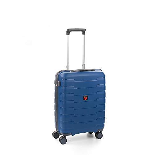 Roncato Skyline Maleta Cabina avión Azul, Medida: 55 x 40 x 20 cm, Capacidad: 41 l, Pesas: 2.6 kg, Maleta Cabina avión ryanair