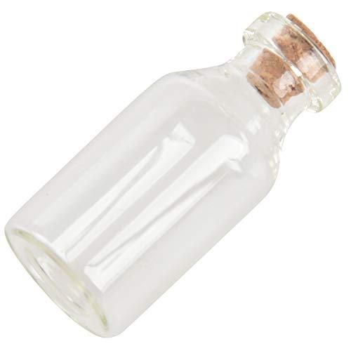 RETYLY 10x Leere Tiny Kleines TransparentGlass Merk Nachricht Bottles Phiolen Glasflasche mit Korken