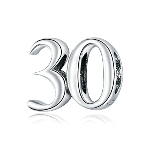 DFHTR 925Cuentas De Números Simples DePlata EsterlinaProtegen El Amuleto De Metal Se Ajusta A La Pulsera De Plata Original Hacer La Joyería