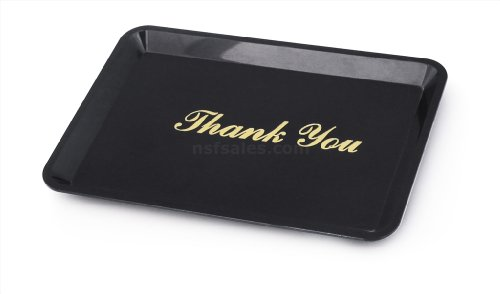 "1 pc Tip Tray Restaurant Guest Check Bill Holder Black  4.5x6.5"",Gold Imprint"