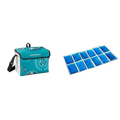 Campingaz Minimaxi Ethnic Nevera Flexible, Unisex Adulto, Multicolor, 9 L + Flexi Freez Acumulador Frio, Pack Pequeño, Unisex, Azul, Small