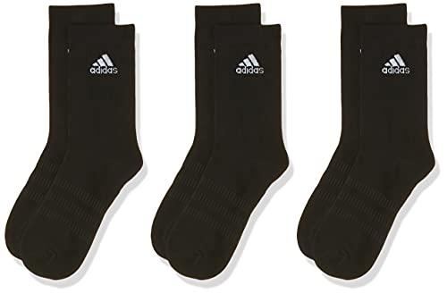 adidas Light Crew 3PP Calcetines, Unisex Adulto, Black/Black/Black, M
