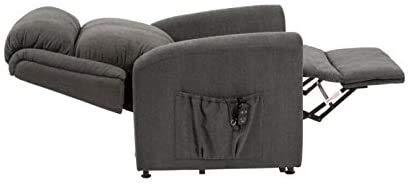 ZNZ Silla de ruedas, silla de rehabilitación médica para personas mayores, personas mayores, sillón tapizado reclinable con elevador de Memphis, sillón reclinable eléctrico contemporáneo, sillón recl