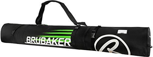 Brubaker Carver Champion Skitasche für 1 Paar Ski und Stöcke 170 cm Schwarz Grün