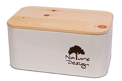 Dekobox Brotbox aus Metall und Zirbenholz - abnehmbares Servier- und Schneidebrett - Brotkasten Made in Tirol