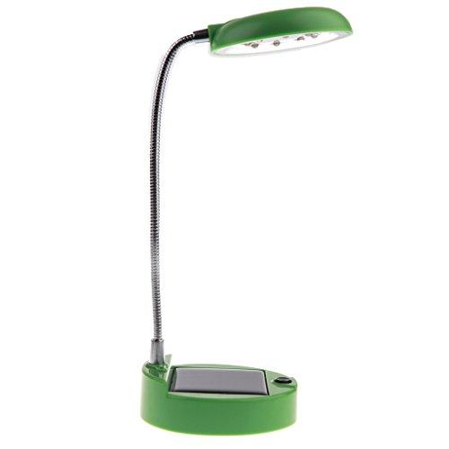 Sharplace Mini Solar Schreibtisch LED Lampe Beleuchtung Leselampen mit 2 Ladearten für Schlafzimmer, Kinderzimmer, usw. - Grün