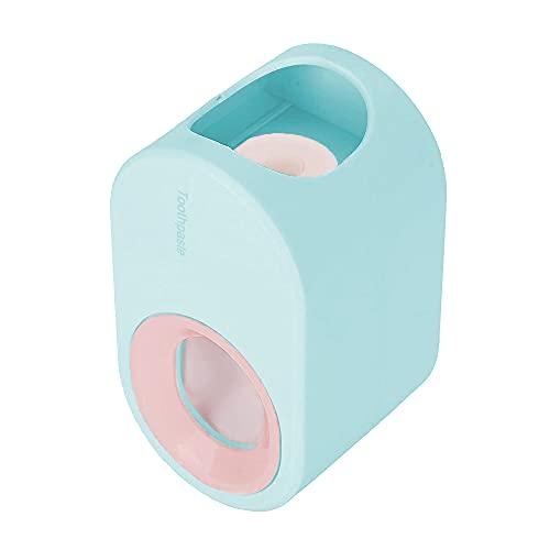 Distributeur de Dentifrice, Distributeur Automatique de Dentifrice en un Clic, pour Salle de Bain, Bleu
