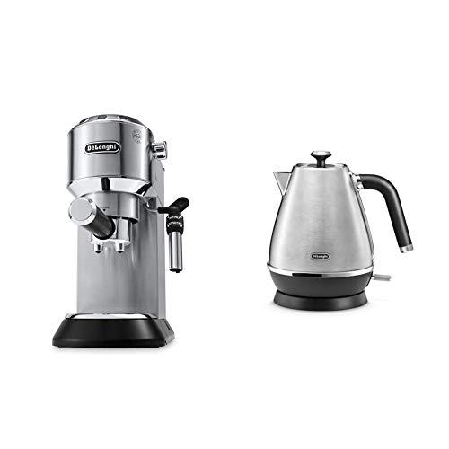 De'Longhi Dedica EC685.M Macchina da Caffè Espresso Manuale e Cappuccino + De'Longhi KBI2001.M Bollitore