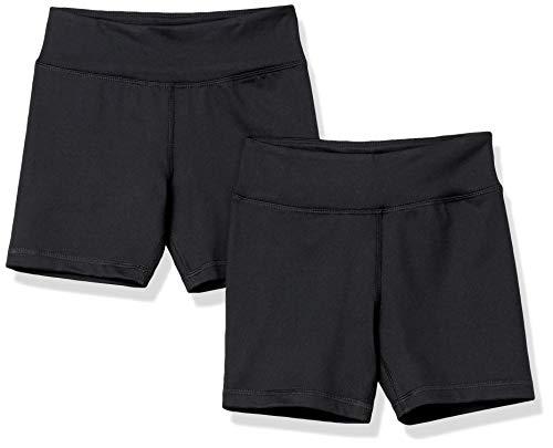 Amazon Essentials Stretch Active Short Pantalones Cortos, Paquete de 2 Unidades de Color Negro, 3 años