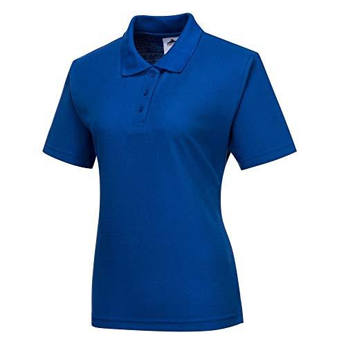 Dames Fitted Polo Shirt Korte Mouw Premium Leisurewear Werkkleding Casual Sport
