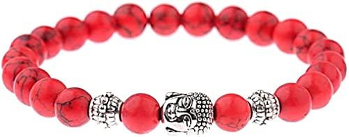 Pulsera de buena suerte Pulsera de piedra, mujer, 7 chakra 8mm perlas de piedra natural de color rojo turquesa Banco de Banco Banco Buddha Joyería de redando yoga Energía Reiki Charm Joyería Regalo pa