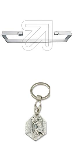 Zisa-Kombi Handtuchhalter für Infrarot-Heizplatten mit Anhänger Hlg. Christophorus