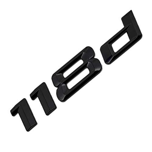 MCK Auto - 118d Schwarz glänzend Hecklogo hinten Emblem Tuning für E81 E82 E87 E88 F20 F21 F40