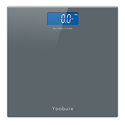 Precision Digital Body Weight Scale Bathroom Scale with StepOn Technology and Tempered Right Angle Glass Balance Platform