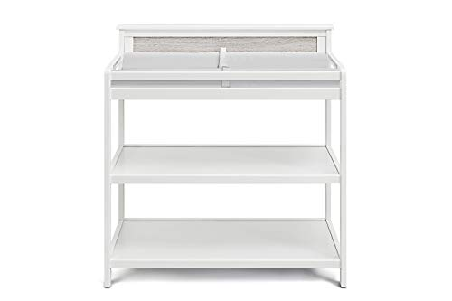 Suite Bebe - Connelly Changing Table - White - Wood - Non Toxic and Child Safe - Safety Rail Included