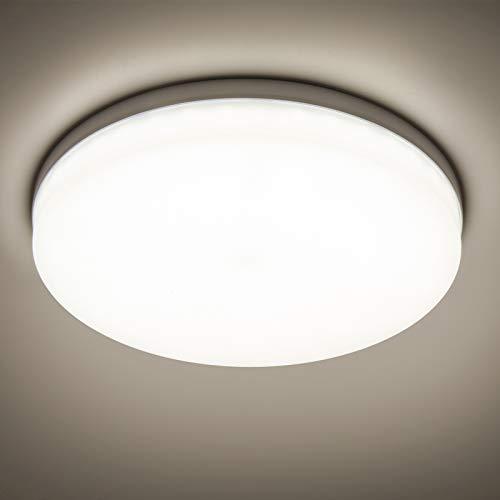 Yafido LED Lámpara de Techo Moderna 48W Plafón Led Redonda Ultra Delgado Downlight Blanco Natural 4500K 4320LM adecuada para Cocina Balcón Dormitorio Corredor Sala de Estar Ø30cm No-Regulable