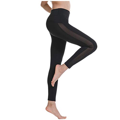 Buy Discount Dainzusyful Yoga Pants with Pockets for Women Running Fitness Leggings Mesh High Waiste...