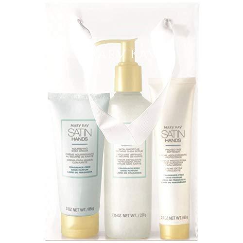 Mary Kay Satin Hands Pampering Set Scrub, Cream & Softener - Fragrance-Free
