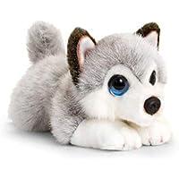 Keel Toys Cachorros de Peluche (25 cm), Color Gris, Blanco (SD2458)