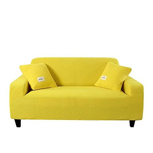 QYSM Sala de Estar de Punto Sofá Cubierta de sofá Tapa de sofá Modular Cubierta de sofá L-en Forma de protección contra sillones 1/2/3/4 Asiento Poliéster (Color : 1, Size : 1 Seater 90-140cm)