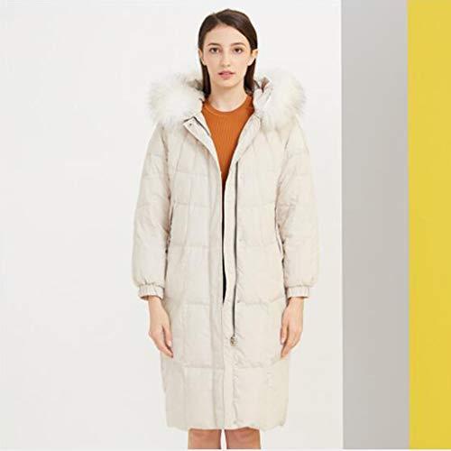 Donsjack, vrouwen donsjack Mid-length winterjas, Verwezenlijking van de Kunst Jacket, casual stijl (Color : Beige, Size : S)