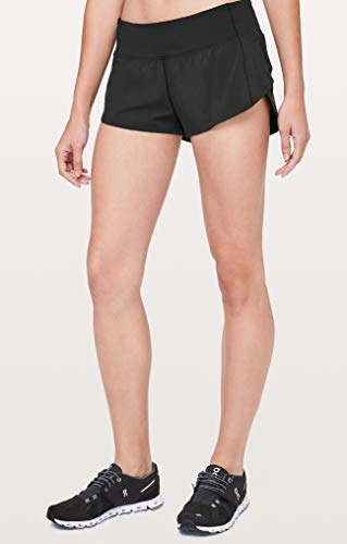 Lululemon Run Speed Up Short (Black, 4)