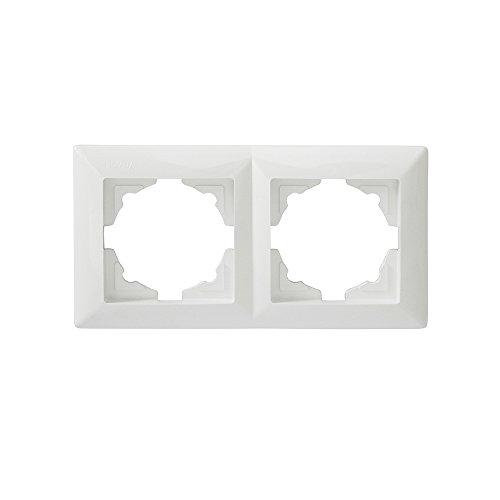 Visage 2-fach Rahmen Gunsan weiß, 1281100000141, VDE, für 2 Steckdosen Schalter Dimmer Taster geeignet