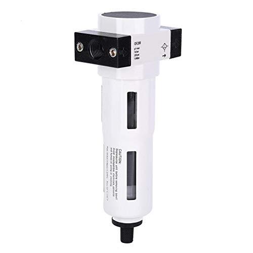 Aluminum Alloy Oil Water Separator 10μm Air Treatment Pneumatic Compressor Good Sealing Pressure-proof for Air Pump Air Source Treatment Filter(OF200-06 G1/8')