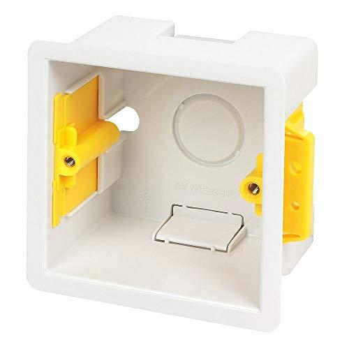 Caja de empotrar cuadrada 47 mm-Appleby blanco