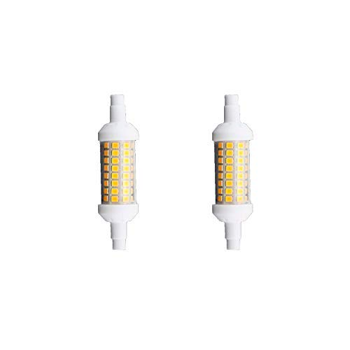 Bombilla LED R7S longitud 78mm 4000k 6W Color Neutra (pack 2)